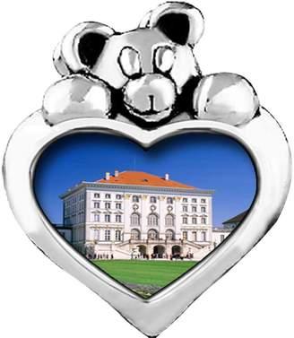 Munich GiftJewelryShop Nymphenburg Palace Germany Light Amethyst Crystal June Birthstone I Love You Heart Care Bear Charm