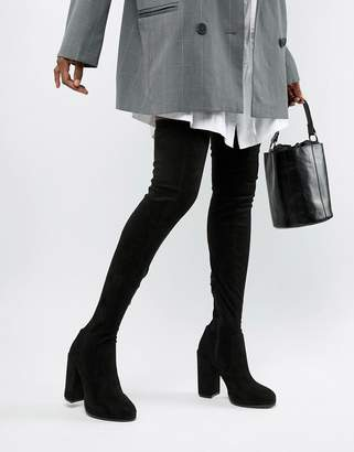 07df0f707ab Asos Design DESIGN Kassidy heeled thigh high boots