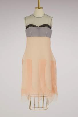 Prada Multi-layered sleeveless dress