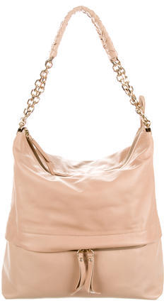 Christian Louboutin  Christian Louboutin Chain-Accented Leather Hobo