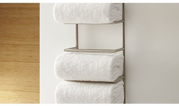 Brushed Steel Wall Mount Towel Rack 6995 Thestylecure