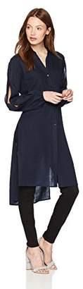 Jones New York Women's Long Tunic with Split Sleeves