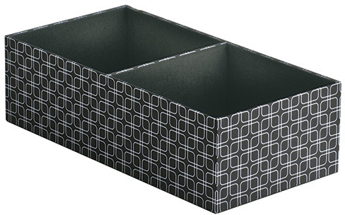 Container Store Narrow 2-Section Drawer Organizer Milano Grid
