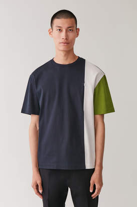 Cos COLOUR BLOCK T-SHIRT WITH ZIP