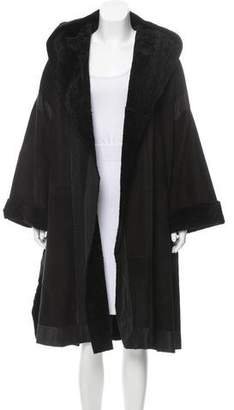 Donna Karan Hooded Longline Coat