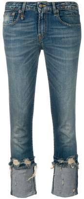 R 13 cropped low rise jeans