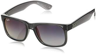 Ray-Ban RB4165 (Justin) - Transparent Grey Frame-Grey Gradient Mirror Red Lenses 51mm