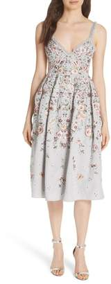 Needle & Thread Butterfly Rose Fit & Flare Dress