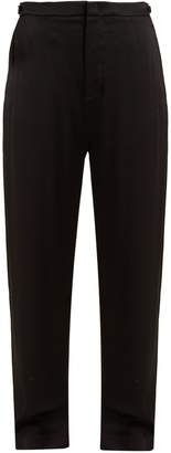 Vince Wide-leg crepe-back satin trousers