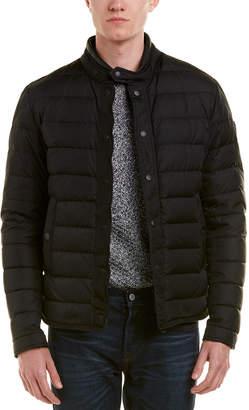 Moncler Hanriot Leather-Trim Jacket