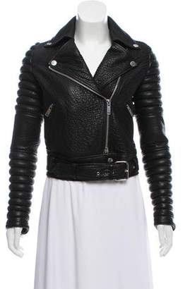 The Arrivals Leather Biker Jacket