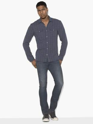 John Varvatos Plaid Double-Pocket Shirt