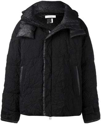 Facetasm wrinkled padded jacket