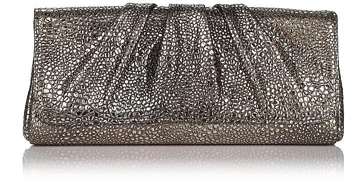 Lauren Merkin Caroline Metallic Leather Bubble Clutch