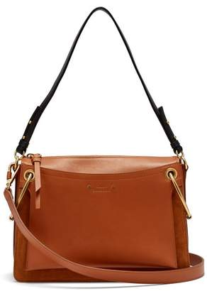 Chloé Roy Medium Suede And Leather Shoulder Bag - Womens - Tan