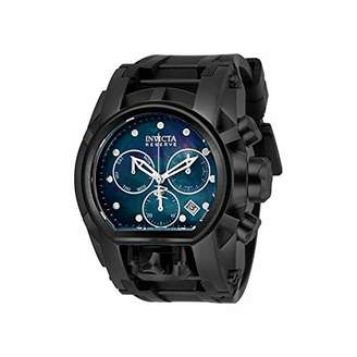 Invicta Men's 'Reserve' Quartz Stainless Steel and Silicone Watch