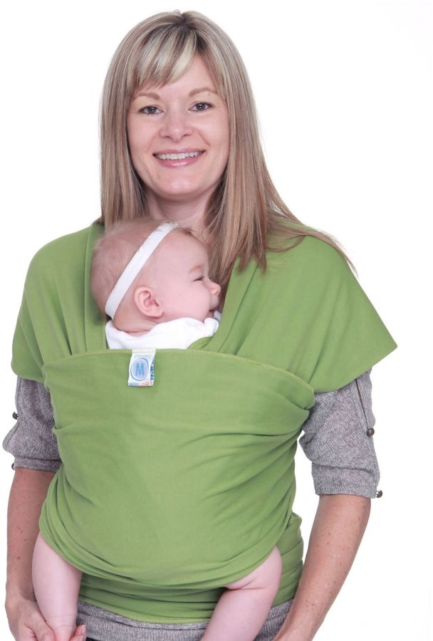 Moby Wrap Organics Baby Carrier in Snowpea