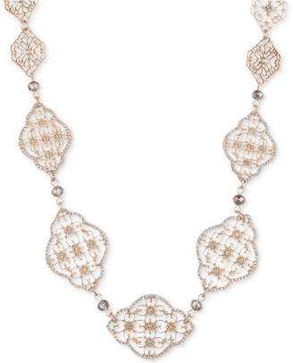 "lonna & lilly Gold-Tone Crystal & Bead Collar Necklace, 16"" + 4"" extender"