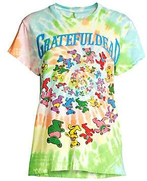 MadeWorn Women's Grateful Dead Bears Tie-Dye Tee