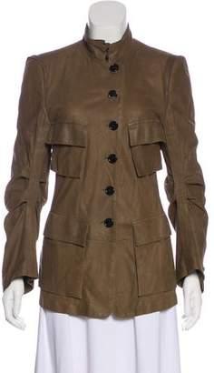 Ann Demeulemeester Leather Long Sleeve Jacket