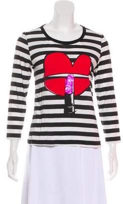 Sonia Rykiel Sonia by Strip Long Sleeve Top