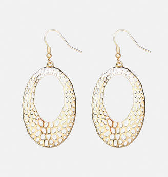 Avenue Oval Filigree Cutout Drop Earrings