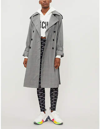 Mo&Co. Checked wool-blend trench coat