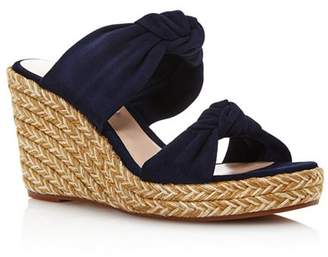 Stuart Weitzman Women's Sarina Espadrille Wedge Slide Sandals