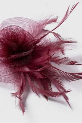Wallis Purple Clip Feather Fascinator