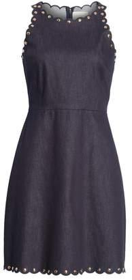 Kate Spade Rivet Detail Denim Fit & Flare Dress