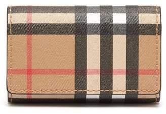Burberry Vintage Check Canvas Key Case - Mens - Tan Multi