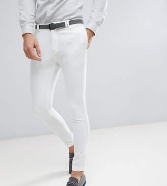 Noak Skinny Fit Wedding Suit Pants In Cream