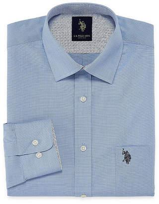 U.S. Polo Assn. USPA Uspa Dress Shirt Long Sleeve Yarn Dyed Woven Dress Shirt