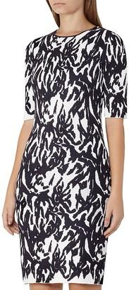 REISS Alisha Printed Knit Dress $320 thestylecure.com