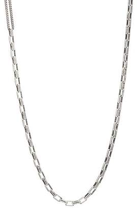 Title of Work Men's Box- & Curb-Chain Necklace - Silver
