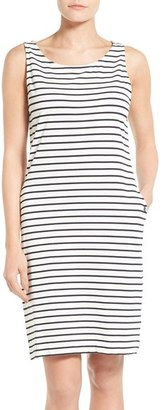 Women's Barbour Dalmore Stripe Jersey Sleeveless Shift Dress $99 thestylecure.com