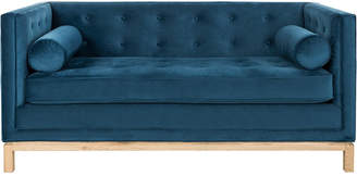 Safavieh Couture Safavieh Elaina Velvet Tufted Sofa With Arm Pillows