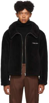 Ambush Black Wool Fleece Logo Jacket