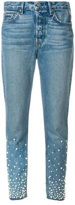 GRLFRND pearl embellished jeans