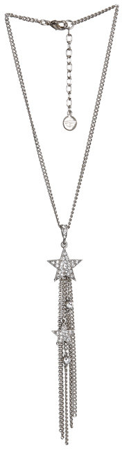 Ben Amun Chain Necklace with Star and Chain Dangles