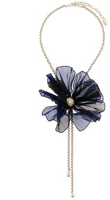 Lanvin beaded flower necklace