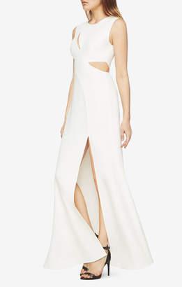 BCBGMAXAZRIA Vivienne Cutout Satin Gown