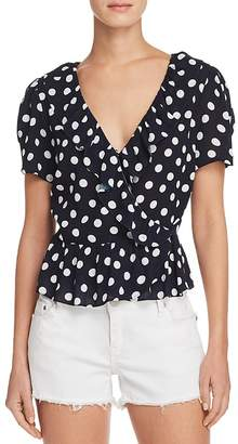 Aqua Polka Dot Wrap Top - 100% Exclusive