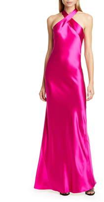 Galvan The Eve Halter Neck Silk Gown