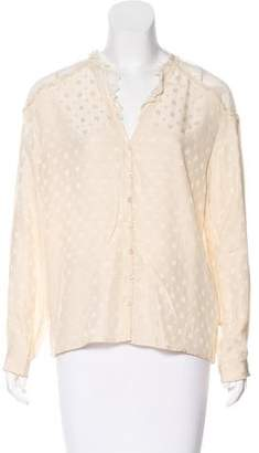Zadig & Voltaire Patterned Silk Top w/ Tags