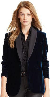 Polo Ralph Lauren Velvet Shawl-Collar Jacket $598 thestylecure.com