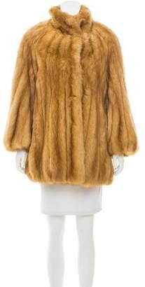 Neiman Marcus Structured Fur Coat