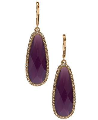lonna & lilly Lonna and Lilly Pierced Purple Dropped Stones Earrings