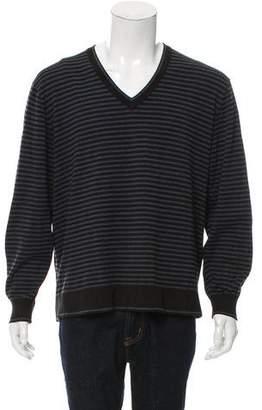 Michael Kors Striped V-Neck Sweater