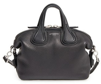Givenchy Micro Nightingale Leather Satchel - Black $1,790 thestylecure.com